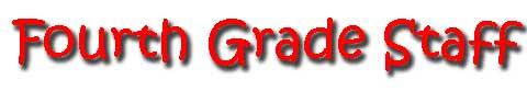 fourth grade staff